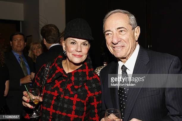 Ann Rapp and Former Governor Mario Cuomo at the launch party for book Made From Scratch A Memoir by Sandra Lee on November 5 2007 at Le Cirque in New...