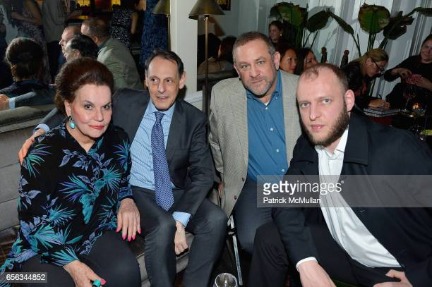 Ann Rapp Jonathan Marder Daniel Feinstein and Diego Robles attend Hunt Slonem's Birds Book Signing and Celebration Hosted by Liliana Cavendish at...