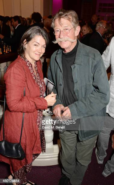 Ann Rees Meyers and John Hurt attend an after party celebrating the press night performance of Benvenuto Cellini directed by Terry Gilliam for the...