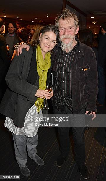 Ann Rees Meyers and John Hurt attend the launch of the 3rd annual 'Made In Britain' season featuring the films of producer Jeremy Thomas at the BFI...