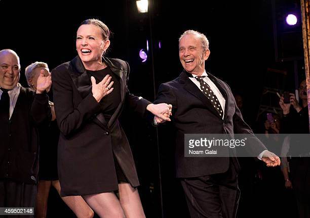 Ann Reinking and Joel Grey perform at the 7486th performance of 'Chicago' the second longest running Broadway show of all time at Ambassador Theater...