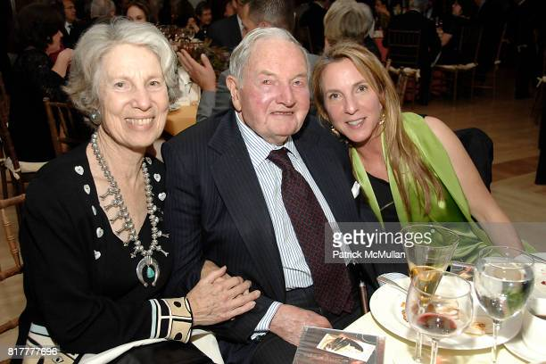 Ann Roberts David Rockefeller Sr and Susan Rockefeller attend INFINITY OF NATIONS Gala at National Museum of the American Indian on October 20 2010...