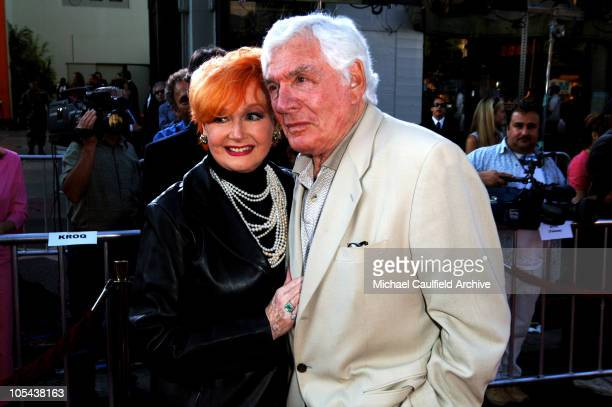 Ann Robinson and Gene Barry during War of the Worlds Los Angeles Fan Screening Red Carpet at Grauman's Chinese Theatre in Hollywood California United...