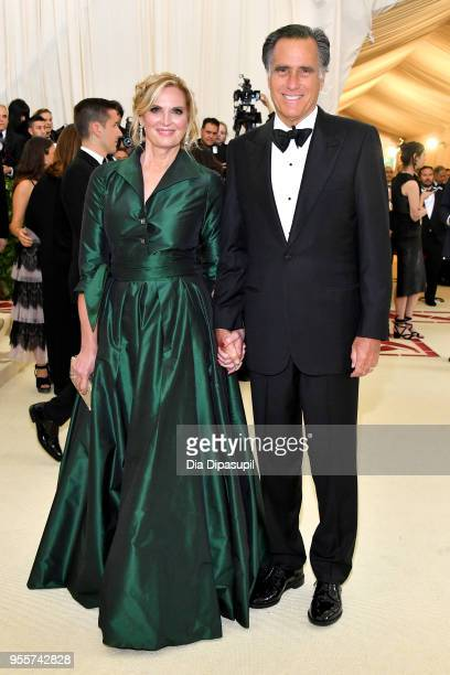 Ann Romney and Mitt Romney attend the Heavenly Bodies Fashion The Catholic Imagination Costume Institute Gala at The Metropolitan Museum of Art on...