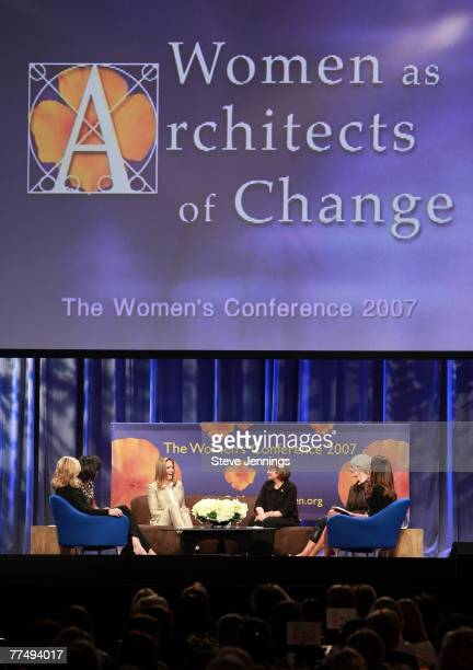 Ann Romney Michelle Obama Jeri Thompson Elizabeth Edwards Cindy Hensley McCain and First Lady Maria Shriver speak during a Conversation with...