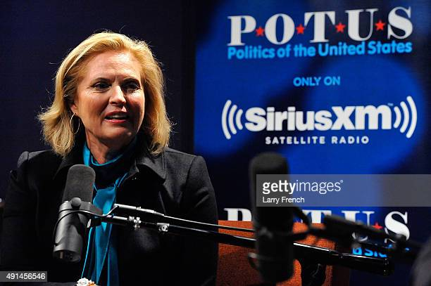 Ann Romney speaks with Julie Mason during 'Ann Romney In Conversation With Host Julie Mason For SiriusXM's 'Leading Ladies' Special' at SiriusXM...
