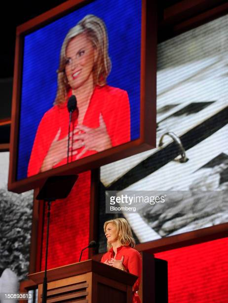 Ann Romney wife of Republican presidential candidate Mitt Romney speaks at the Republican National Convention in Tampa Florida US on Tuesday Aug 28...
