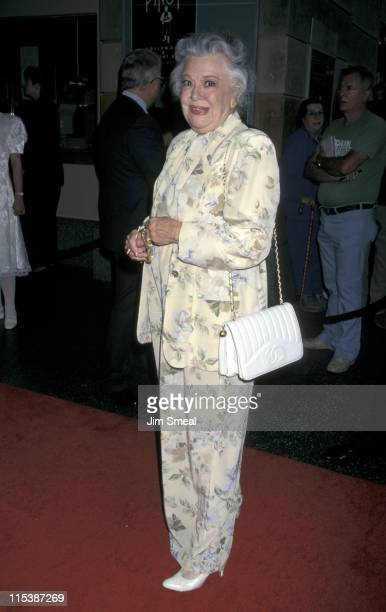 Ann Rutherford during Opening Night of Master Class at JA Doolittle Theater in Hollywood California United States
