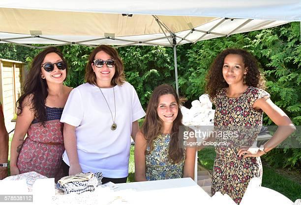 Ann Sanchez Jenna Pearson Josephine Beau and Jessica Freslon attend the Hamptons Magazine London Jewelers Host a Luxury Shopping Afternoon on July 21...