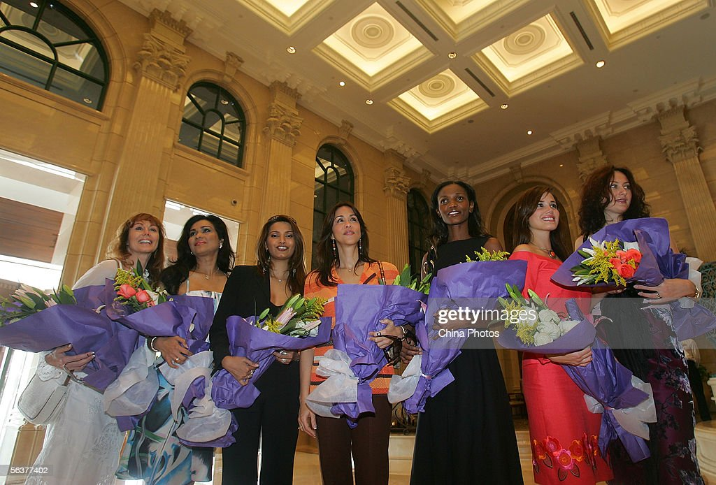 Ann Sidney, Miss World 1964, Wilnelia Merced, Miss World 1975, Diana Hayden, Miss World 1997, Mariasela Alvarez, Miss World 1982, Agbani Darego, Miss World 2001, current Miss World Maria Julia Mantilla Garcia, and Julia Kurochkina, Miss World 1992, who are now judges for this years Miss World pageant, pose for pictures on December 8, 2005 in Sanya, Hainan Island of China. The final of Miss World 2005 will be held in Sanya on December 10.
