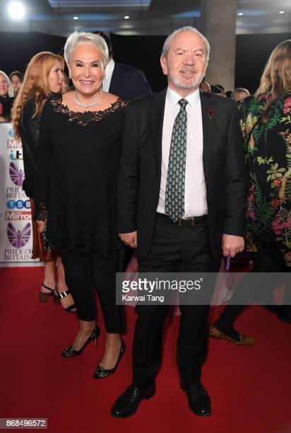 Ann Simons and Lord Alan Sugar attend the Pride Of Britain Awards at the Grosvenor House on October 30 2017 in London England
