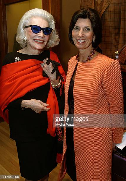 Ann Slater and Pamela Fiori during Brooks Brothers and Town Country Celebrate Wynton Marsalis and The Opening of Jazz at Lincoln Center at Brooks...