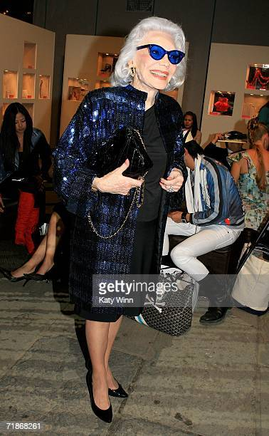 Ann Slater poses in the lobby during Olympus Fashion Week in Bryant Park September 12 2006 in New York City