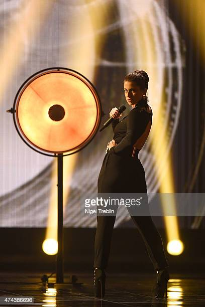 Ann Sophie Duermeyer of Germany performs on stage during rehearsals for the final of the Eurovision Song Contest 2015 on May 22, 2015 in Vienna,...