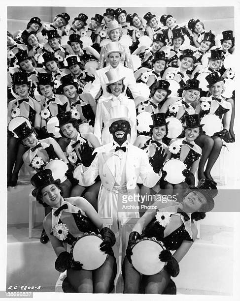Ann Sothern George Murphy Ethel Merman Eddie Cantor singing with the Goldwyn girls in a scene from the film 'Kid Millions' 1934