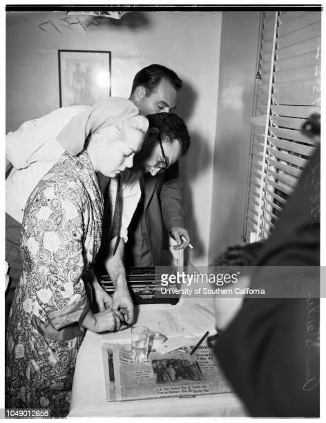 Ann Sterling beating story 24 March 1952 Ann Sterling actress victimElizabeth Ann JacksonMrs Marilyn JenkinsNurse W R PaceBob Calhoun oil man whom...