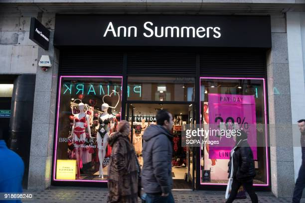 Ann Summers store seen in London famous Oxford street Central London is one of the most attractive tourist attraction for individuals whose willing...