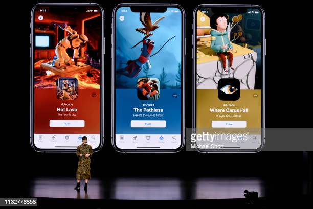 Ann Thai senior product marketing manager of the App Store at Apple Inc speaks during a company product launch event at the Steve Jobs Theater at...