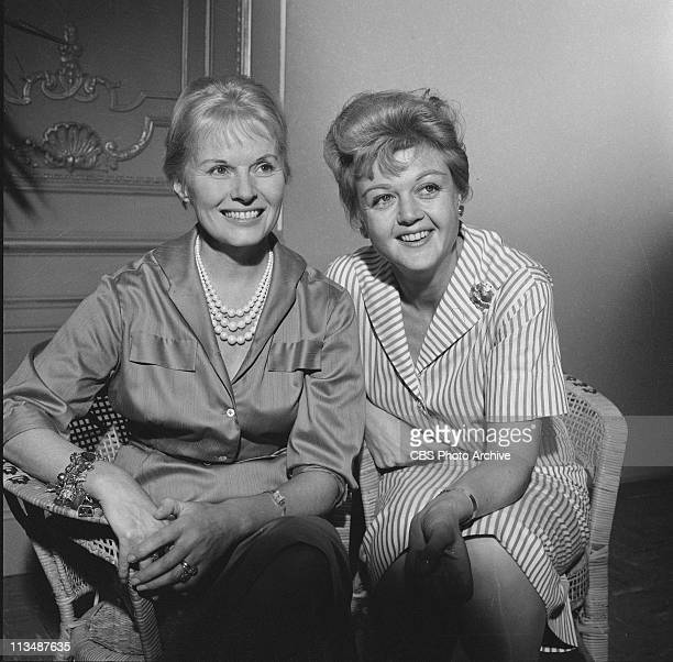 Ann Todd and Angela Lansbury in 'The Grey Nurse Said Nothing' on PLAYHOUSE 90 Image dated November 10 1959
