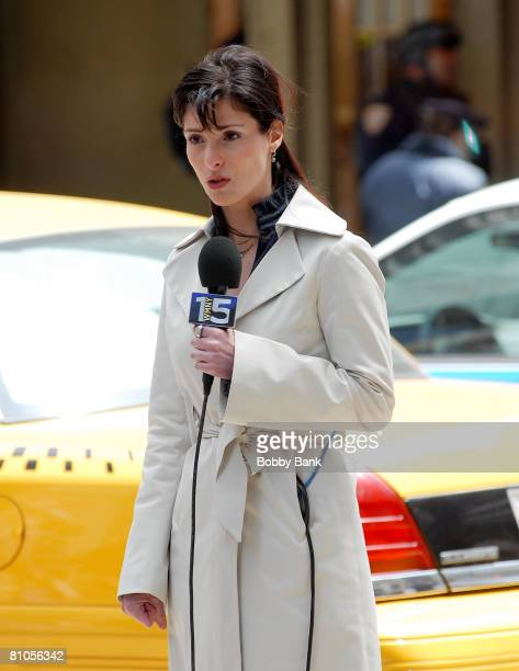 Ann Travolta on location for The Taking of Pelham 123 on the Streets of Manhattan on May 11 2008 in New York City