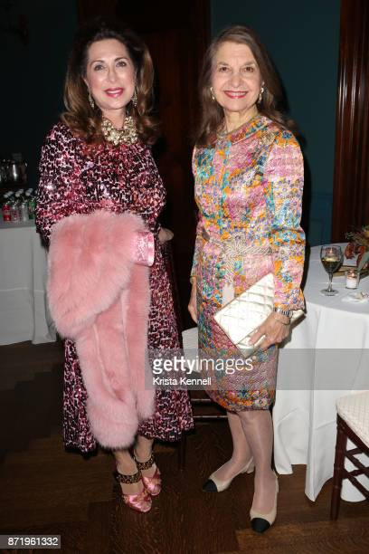 Ann Van Ness and Lynn Crystal attend French Heritage Society New York 35th Anniversary Gala at Private Club on November 8 2017 in New York City