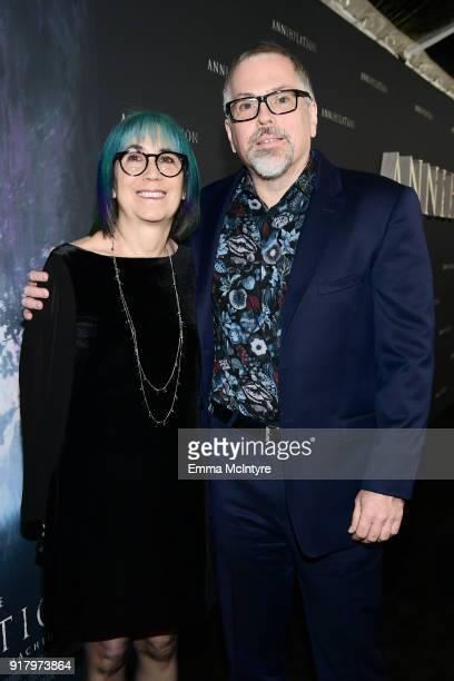 Ann VanderMeer and Jeff VanderMeer attend the premiere of Paramount Pictures' 'Annihilation' at Regency Village Theatre on February 13 2018 in...