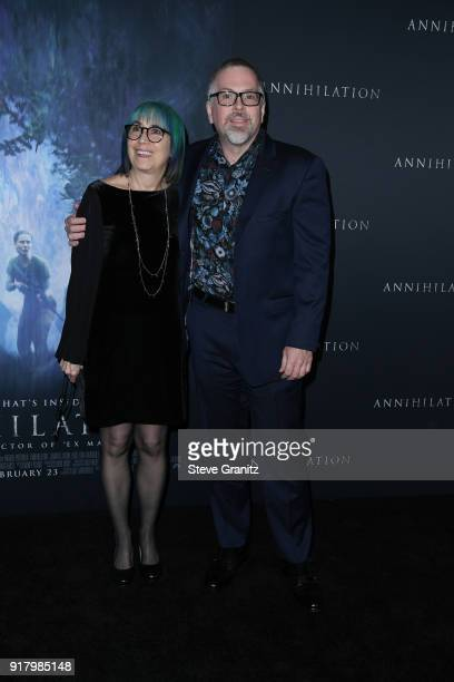 Ann VanderMeer and Jeff VanderMeer attend the premiere of Paramount Pictures' 'Annihilation' at Regency Village Theatre on February 13 2018 in...