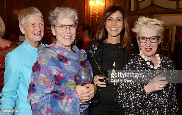 Ann Watts guest Julia Bradbury and Jenny Eclair attend a fundraising event for The Eve Appeal at Claridge's Hotel on November 3 2014 in London England