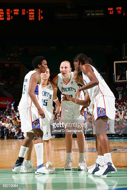 Ann Wauters of the New York Liberty against the Connecticut Sun at Madison Square Garden on July 7 2005 in New York City NOTE TO USER User expressly...