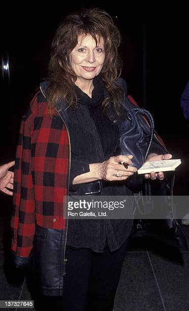 Ann Wedgeworth attends the premiere of 'The Pickle' on April 27 1993 at the Director's Guild Theater in Hollywood California