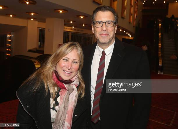 Ann Weiss and husband Richard LeGravenese pose at the 'Thoroughly Modern Millie' 15th Anniversary Reunion Concert at The Minskoff Theater on February...