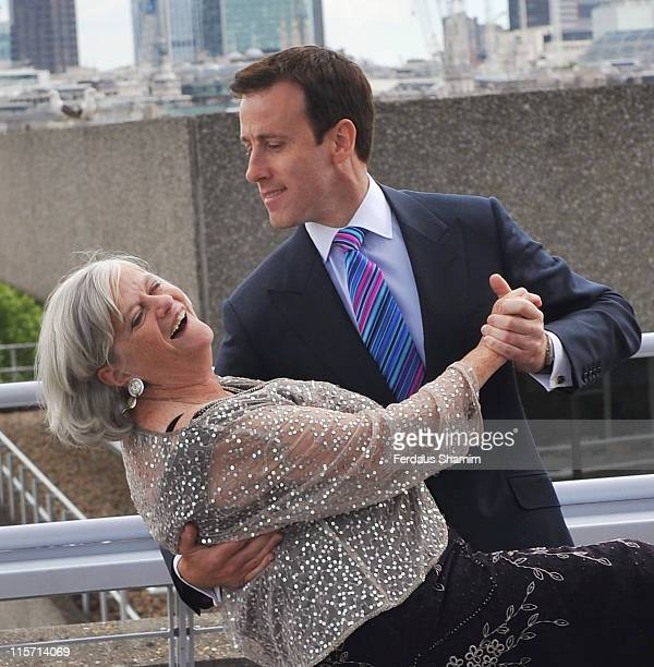 Ann Widdecombe and Anton du Beke launch BUPA's campaign 'Shall We Dance' at The National Theatre on June 9 2011 in London England