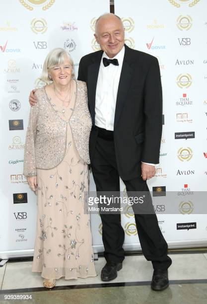 Ann Widdecombe and Ken Livingstone attend the National Film Awards UK at Portchester House on March 28 2018 in London England