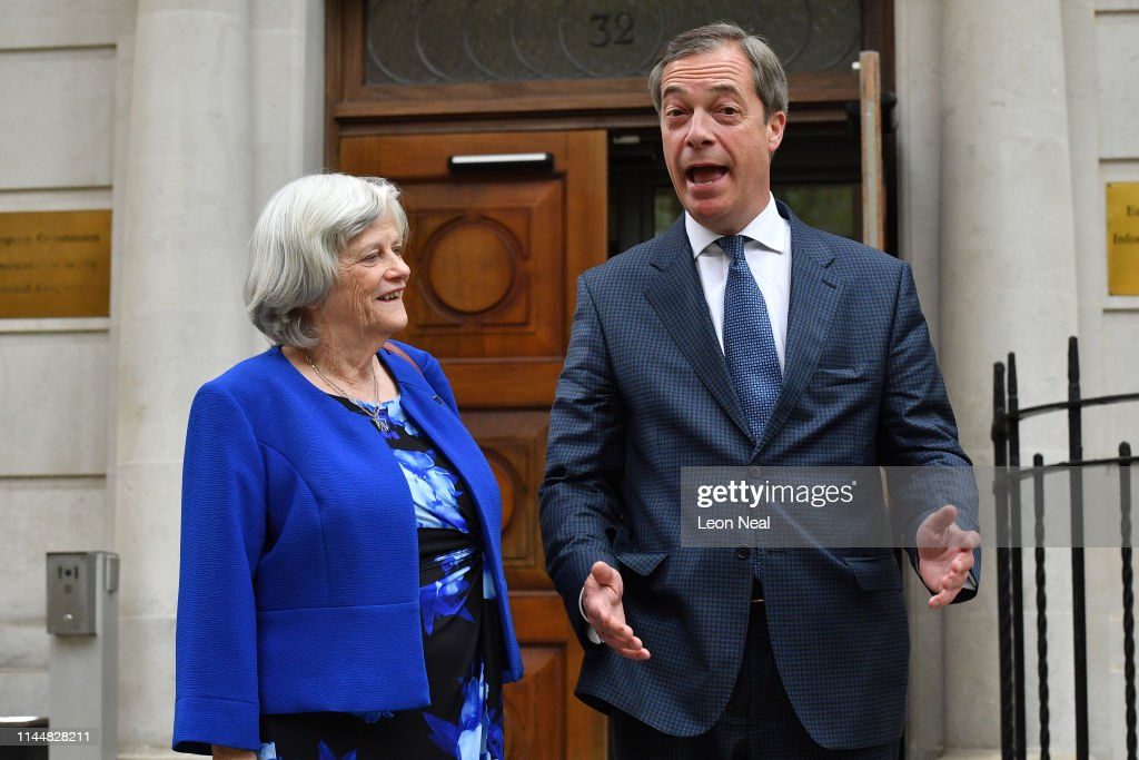 GBR: Ann Widdecombe Defects From The Conservative Party To Nigel Farage's Brexit Party