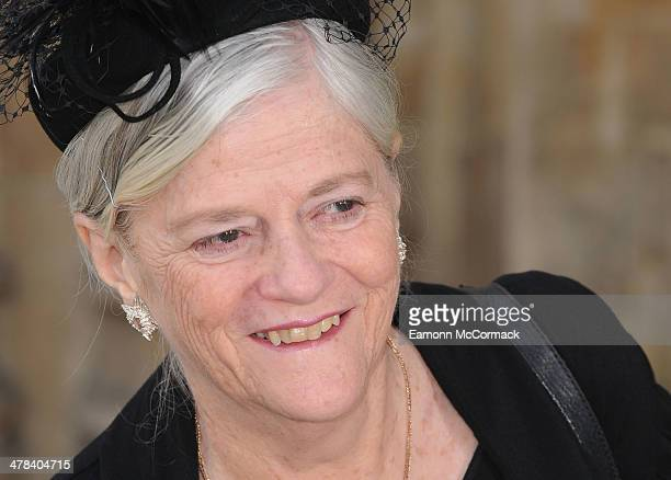 Ann Widdecombe attends a memorial service for Sir David Frost at Westminster Abbey on March 13 2014 in London England