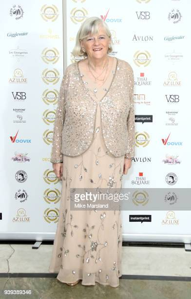 Ann Widdecombe attends the National Film Awards UK at Portchester House on March 28 2018 in London England