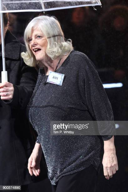 Ann Widdecombe enters the 'Celebrity Big Brother' House at Elstree Studios on January 2 2018 in Borehamwood England