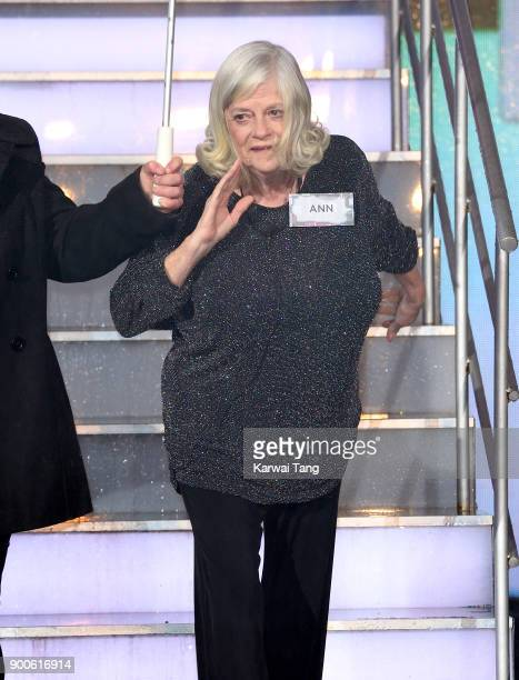 Ann Widdecombe enters the Celebrity Big Brother house on launch night at Elstree Studios on January 2 2018 in Borehamwood England