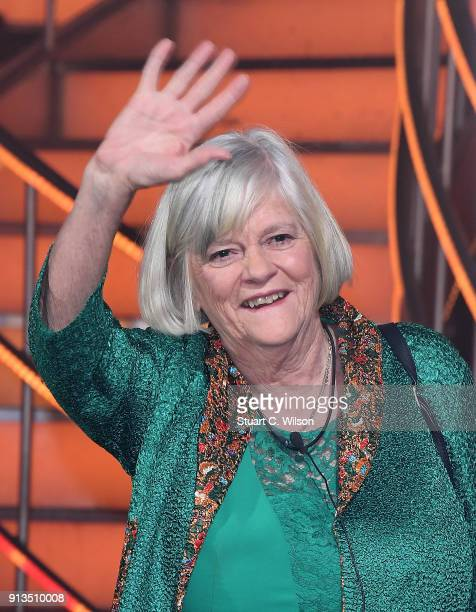 Ann Widdecombe finishes in second place during the 2018 Celebrity Big Brother Final at Elstree Studios on February 2 2018 in Borehamwood England