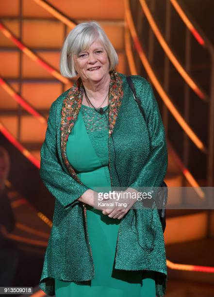 Ann Widdecombe is evicted during the 2018 Celebrity Big Brother Final at Elstree Studios on February 2 2018 in Borehamwood England