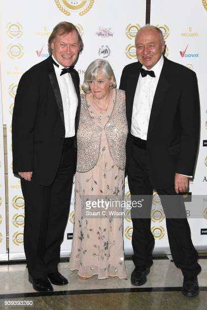 Ann Widdecombe Ken Livingstone and a guest attend the National Film Awards UK at Porchester Hall on March 28 2018 in London England