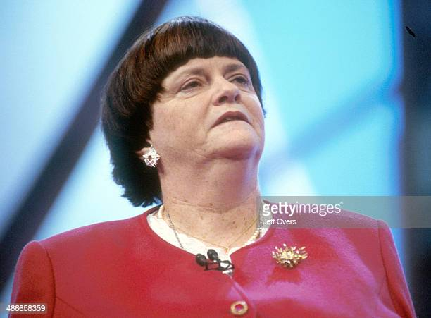 Ann Widdecombe makes her speech at the 2000 Conservative Party Conference in Bournemouth