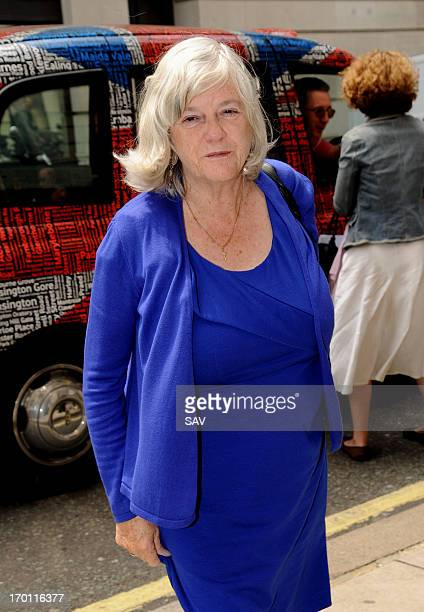 Ann Widdecombe pictured at the BBC studios on June 7 2013 in London England