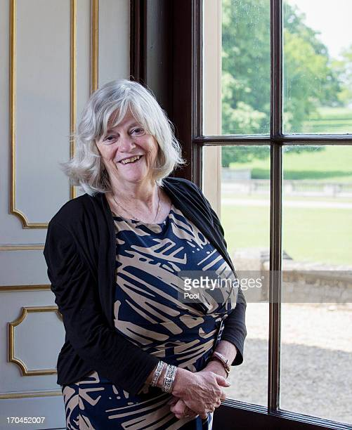 Ann Widdecombe poses on the opening day of the Althorp Literary Festival on June 13 2013 in Althorp United Kingdom
