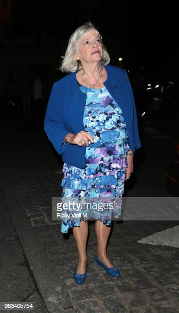 Ann Widdecombe seen attending Britain's Got Talent semi final at Hammersmith Apollo on May 28 2018 in London England