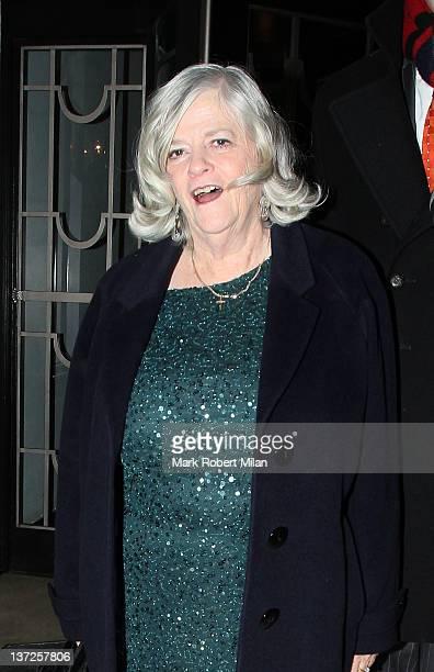 Ann Widdecombe sighting at Claridges Hotel on January 17 2012 in London England