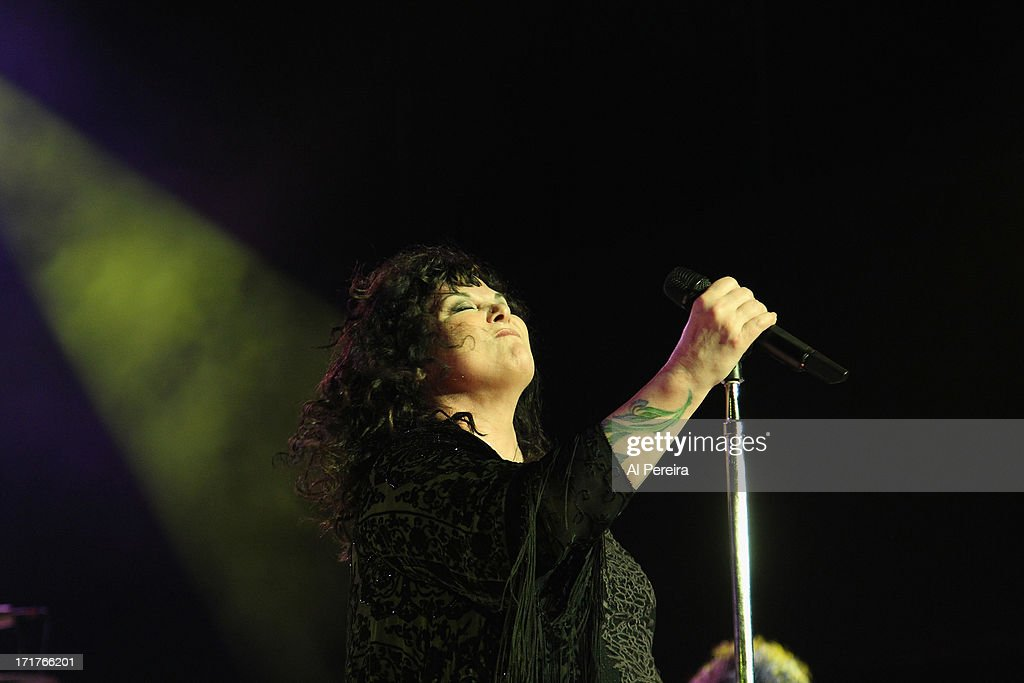 Ann Wilson and Heart perform during the Heartbreaker Tour at Nikon at Jones Beach Theater on June 27, 2013 in Wantagh, New York.