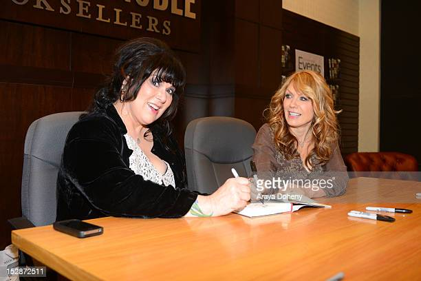 Ann Wilson and Nancy Wilson of Heart sign copies of their memoir 'Kicking And Dreaming' at Barnes Noble bookstore at The Grove on September 27 2012...
