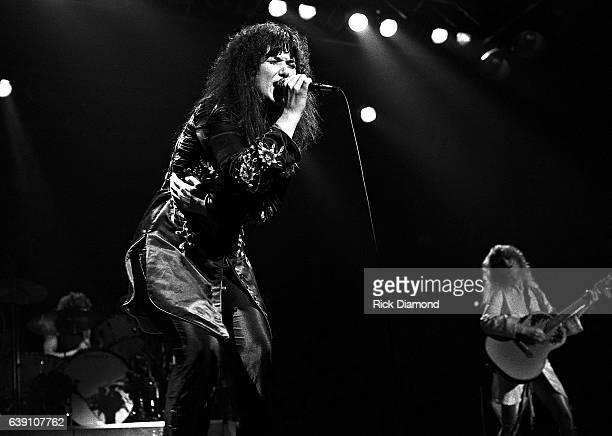 Ann Wilson and Nancy Wilson of Rock group Heart performs at The Omni Coliseum in Atlanta Georgia September 28 1978