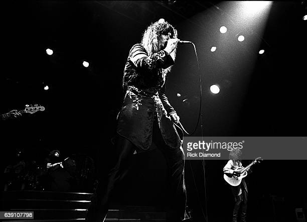 Ann Wilson and Nancy Wilson of Rock group Heart performs at The Omni Coliseum in Atlanta Georgia September 28 1978